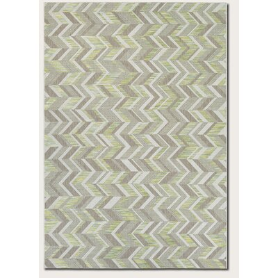Loranger Lemon/Gray Indoor/Outdoor Area Rug Rug Size: 53 x 76