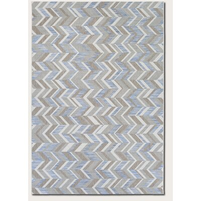 Loranger Blue/Gray Indoor/Outdoor Area Rug Rug Size: 53 x 76