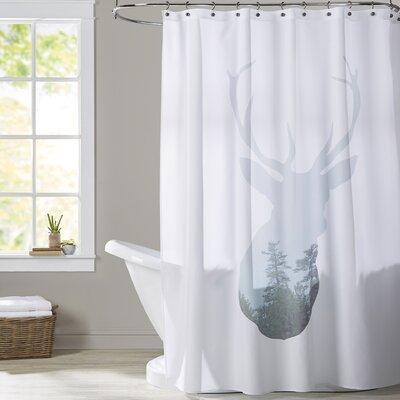 Melinda Wood Deer Trees Shower Curtain