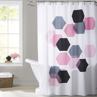 Ashlee Rae Geometric Hexagon Shower Curtain