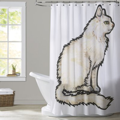 Milam Cat 1 Shower Curtain