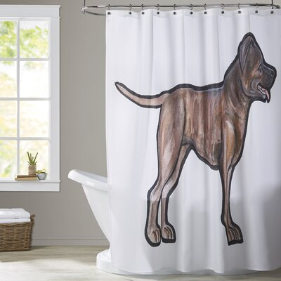 Vanwagenen Bull Terrier Shower Curtain