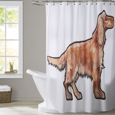 Books Cocker Shower Curtain