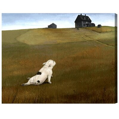 A Dogs World Painting Print on Wrapped Canvas Size: 16