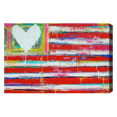 One Nation Painting Print on Wrapped Canvas Size: 10