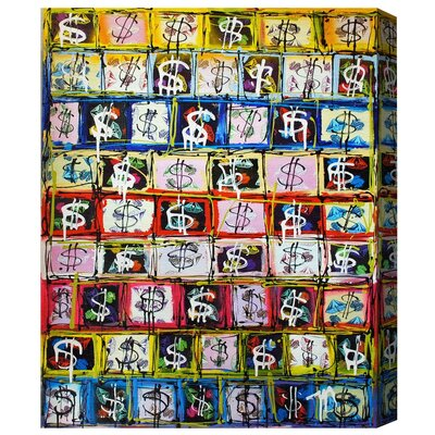 Money Game Painting Print on Wrapped Canvas