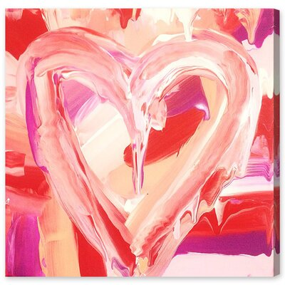 Love Painting Print on Wrapped Canvas Size: 12