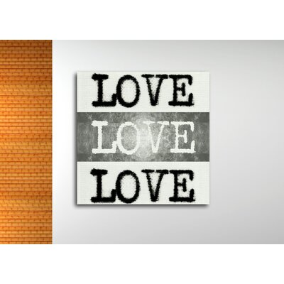 Poet's Love Textual Art on Wrapped Canvas Size: 12