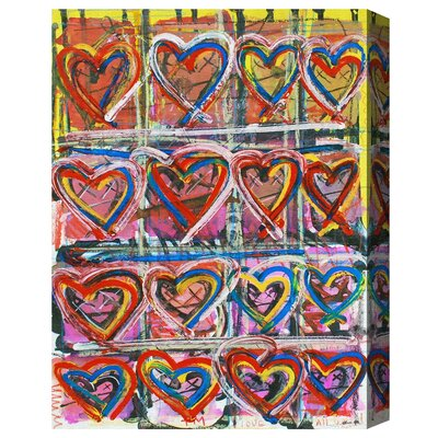 Heart Yellow Painting Print on Wrapped Canvas Size: 20