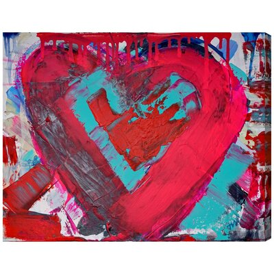 Messy Love Painting Print on Wrapped Canvas