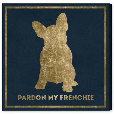 Frenchie Graphic Art on Wrapped Canvas