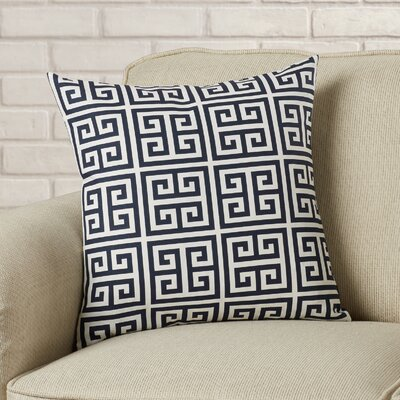 Blevins Cotton Throw Pillow Color: Black / White, Size: 18 H x 18 W