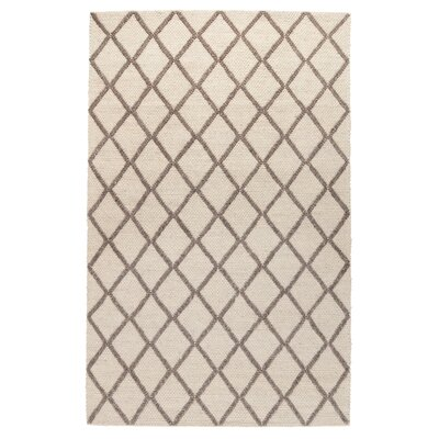Lovin Hand-Woven Cream/Mocha Area Rug Rug Size: 5 x 8