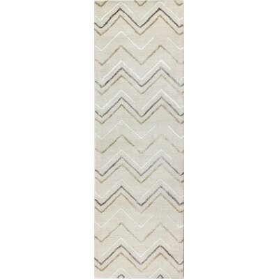 Luckett Hand-Tufted Ivory Area Rug Rug Size: Runner 26 x 8