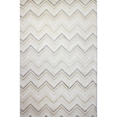 Luckett Hand-Tufted Ivory Area Rug Rug Size: 86 x 116