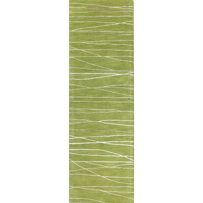 Lucus Hand-Tufted Guacamole Area Rug Rug Size: Runner 26 x 8