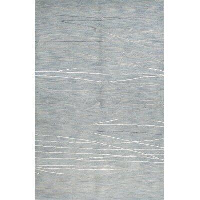 Luczak Hand-Tufted Light Blue Area Rug Rug Size: 86 x 116