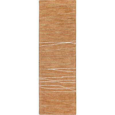 Ludlum Hand-Tufted Spice Area Rug Rug Size: Runner 26 x 8