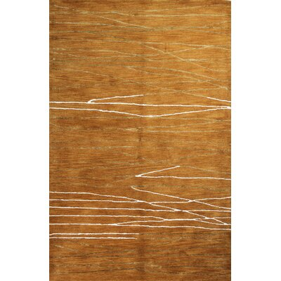 Ludlum Hand-Tufted Spice Area Rug Rug Size: 39 x 59