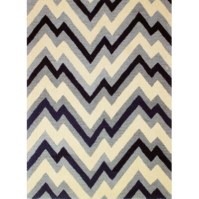 Luckett Hand-Tufted Navy Area Rug Rug Size: 76 x 96