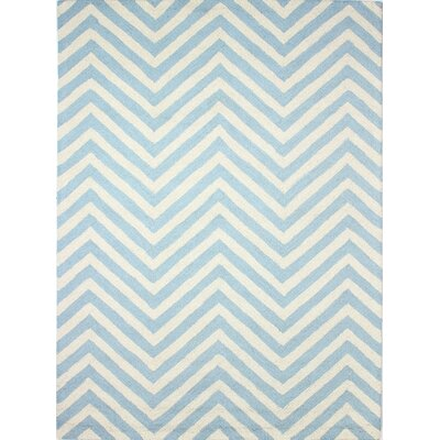 Luckett Hand-Tufted Light Blue Area Rug Rug Size: 5 x 7