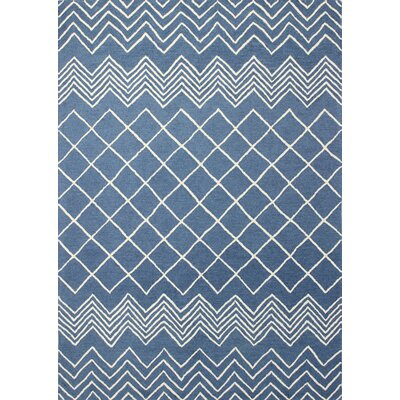 Luckett Hand-Tufted Blue Area Rug Rug Size: 76 x 96