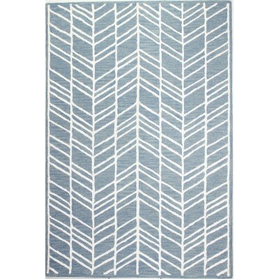 Maranto Hand-Tufted Denim Area Rug Rug Size: Runner 26 x 8