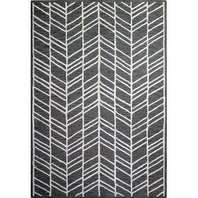 Maranto Hand-Tufted Grey Area Rug Rug Size: 36 x 56