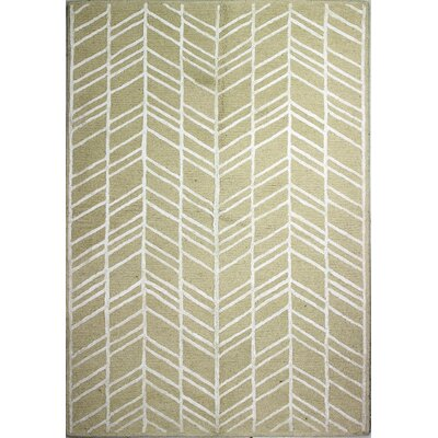 Luczak Hand-Tufted Ivory Area Rug Rug Size: Rectangle 5 x 76