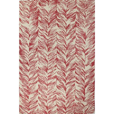 Luckett Hand-Tufted Ivory/Red Area Rug Rug Size: 8 x 11