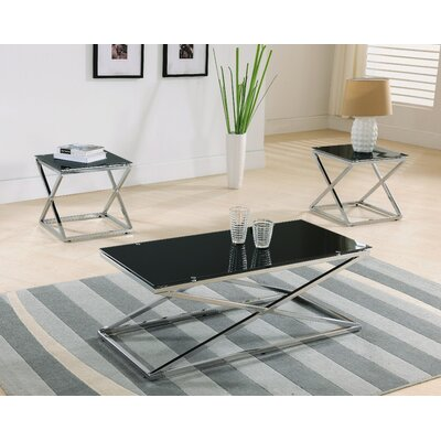 Manske 3 Piece Coffee Table Set