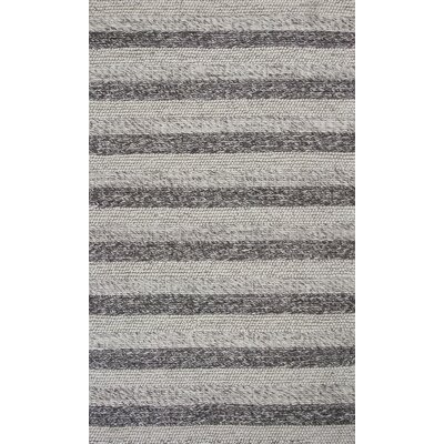 Luckey Hand-Woven Gray/White Area Rug Rug Size: 5 x 7