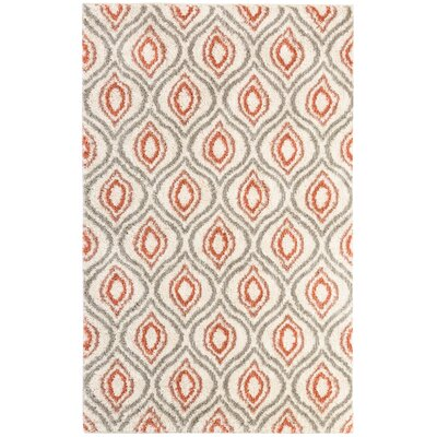 Medlin Coral Beige Area Rug Rug Size: Rectangle 8 x 10