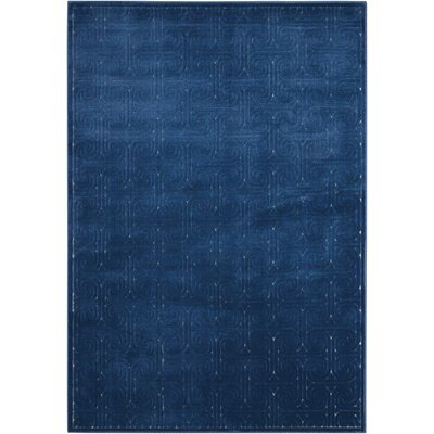 Manske Navy Area Rug Rug Size: Rectangle 36 x 56