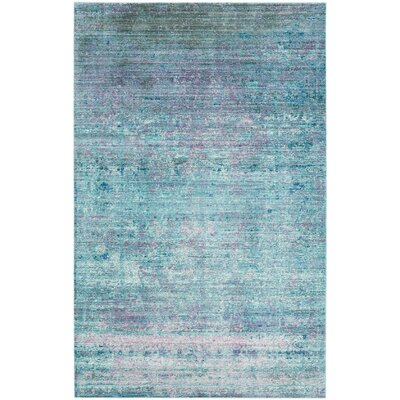 Mulhall Purple/Blue Area Rug Rug Size: 4' x 6'