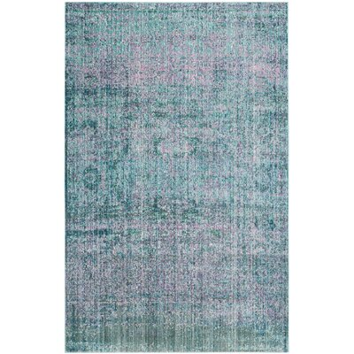 Mulhall Purple/Blue Area Rug Rug Size: 5 x 8