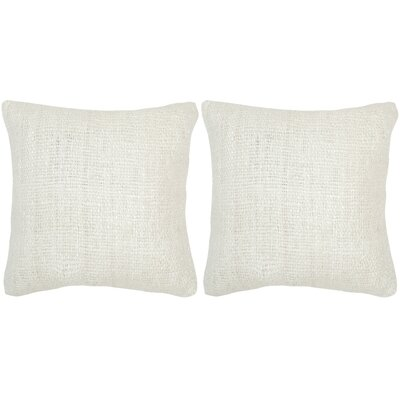 Longoria Silk Throw Pillow Color: Bright White