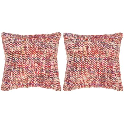 Longoria Silk Throw Pillow Color: Candy Red