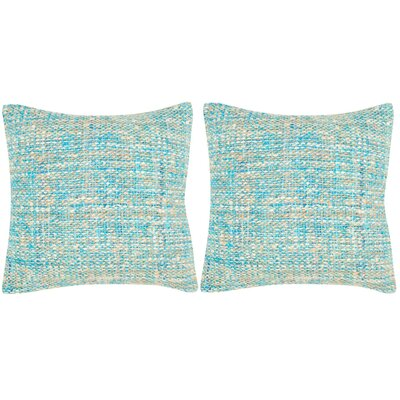 Longoria Silk Throw Pillow Color: Playful Blue