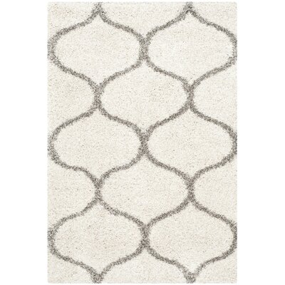 Marco Ivory/Gray Area Rug Rug Size: Rectangle 2' x 3'