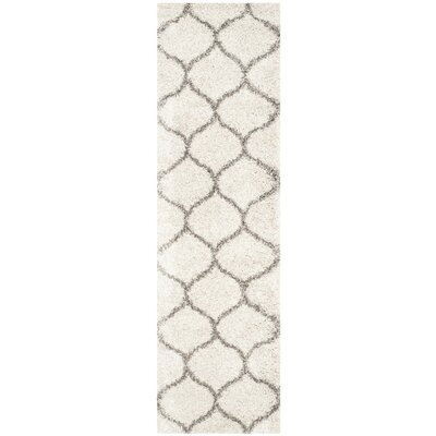Marco Ivory/Gray Area Rug Rug Size: Runner 23 x 14
