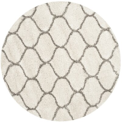 Marco Ivory/Gray Area Rug Rug Size: Round 8