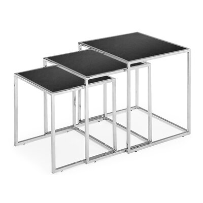 Travis Heights 3 Piece Nesting Tables Finish: Black