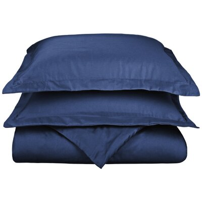 Scheffer 3 Piece Reversible Duvet Cover Set Size: Full / Queen, Color: Navy