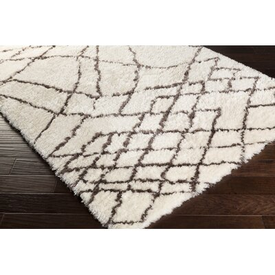 Manzer Hand-Tufted Ivory Area Rug Rug Size: 4 x 6