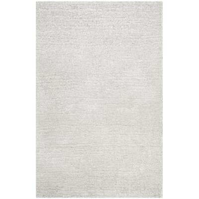 Sadler Hand-Tufted Silver/ Ivory Area Rug Rug Size: Rectangle 8 x 10