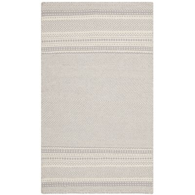 Butters Hand-Woven Grey/Ivory Area Rug Rug Size: 9 x 12