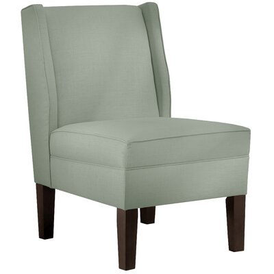 Wingback Chair Upholstery: Linen Swedish Blue