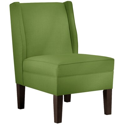 Wingback Chair Upholstery: Linen Kelly Green