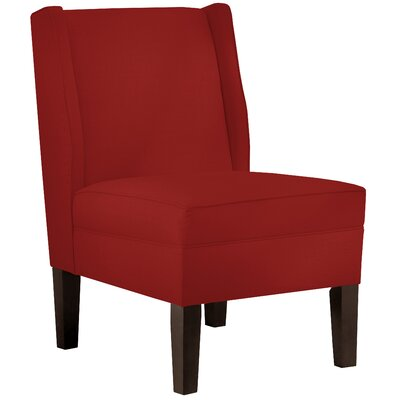 Wingback Chair Upholstery: Linen Antique Red